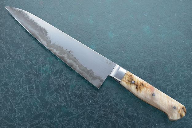 Chef's Knife (Gyuto) - San Mai with Sheep Horn (8-1/2