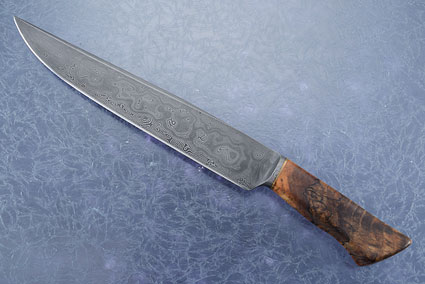 Integral Damascus Camp Knife