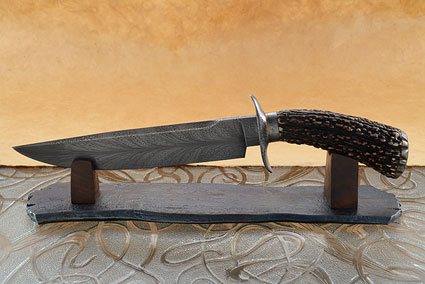 Chief Seattle Feather Damascus Bowie