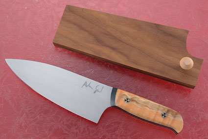 Chef's Knife (5-3/4 in.) with Curly Maple and Black G10