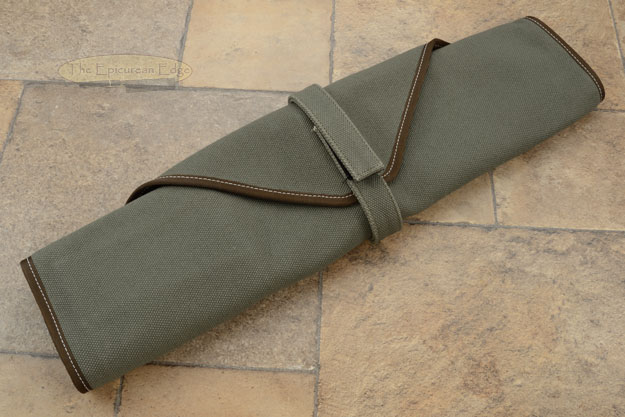 6 Slot Canvas Knife Roll - Green (CW134G)