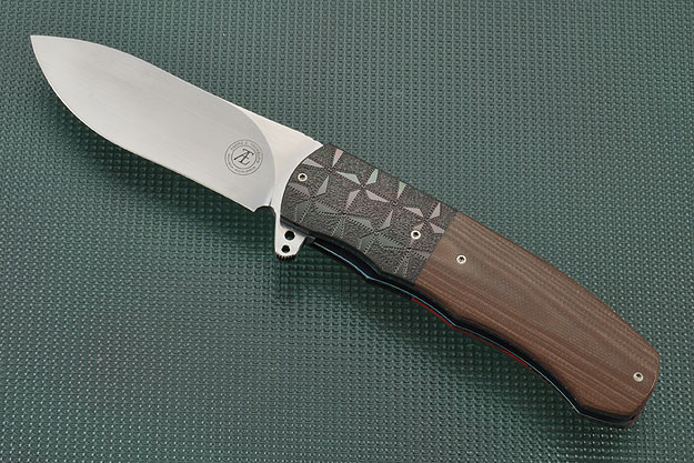 L46 Flipper with Earth Brown G10 and Zirconium