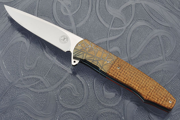 L20 Flipper with Thunderstorm Kevlar and Engraved Zirconium (IKBS)