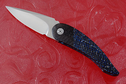 Tactical Front Flipper with Blue and Silver Strike Carbon Fiber and MoonGlow II (IKBS)