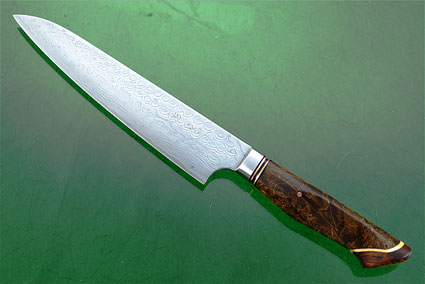 Utility - Slicer - (160mm / 6-1/3 in) with Stainless Damascus and Maple Burl