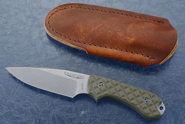 Guardian 3 - OD Green G10, Stonewash Blade, False Edge Grind