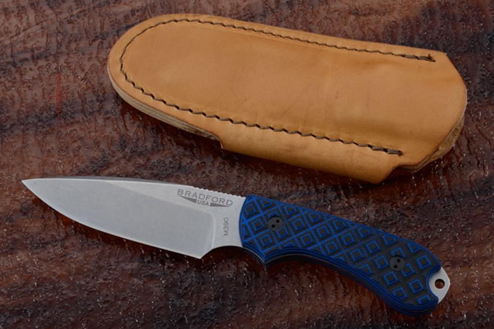Guardian 3 - Black/Blue G10, Stonewash Blade, False Edge Grind