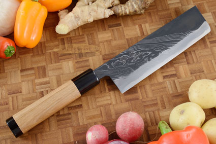 Half Twist Suminagashi Chef's Knife - Nakiri - 6-1/2 in. (165mm)