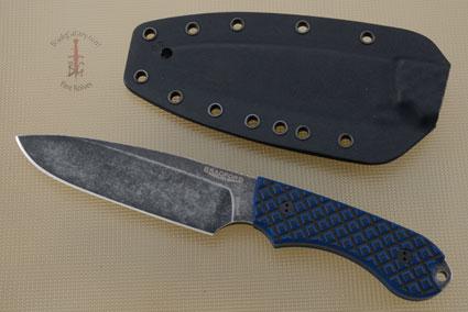 Guardian 5 - Black/Blue G10, Nimbus Blade, Sabre Grind