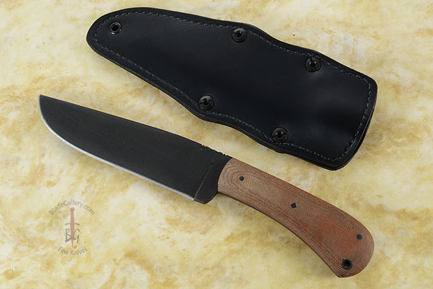 Field Knife with Tan Micarta and Caswell Finish (5160)