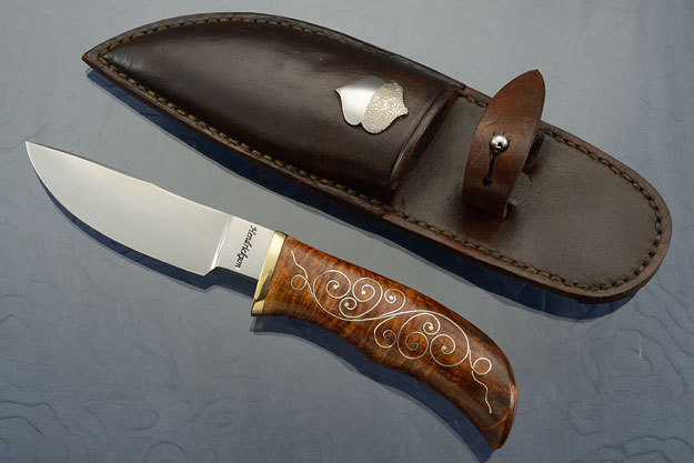 Clip Point Hunter with Silver Scrolls