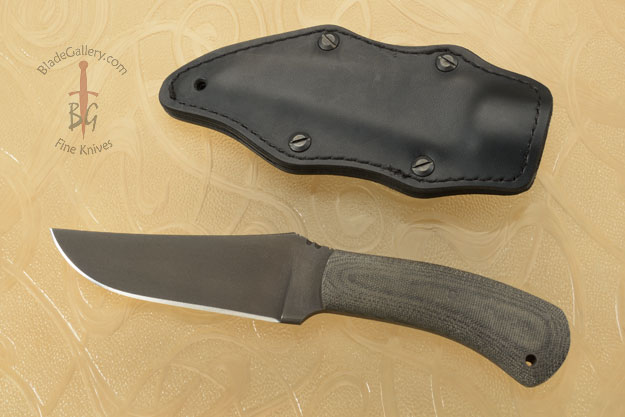 Belt Knife with Micarta and Caswell Finish