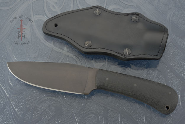 Hunting Knife with Black Micarta and Caswell Finish