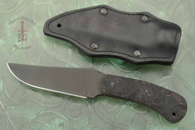 Belt Knife with Sculpted Rubber and Caswell Finish
