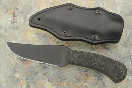 Belt Knife with Rubber and Caswell Finish