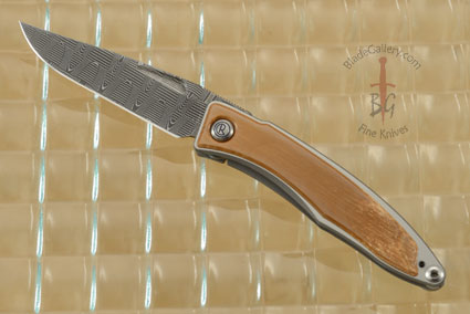 Mnandi with Mammoth Ivory Bark and Stainless Basket Weave Pattern Damascus