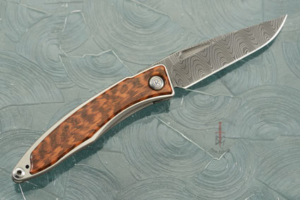 Mnandi with Snakewood and Laddered Damascus - Left Handed