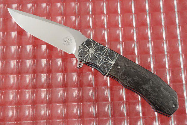 L44 Flipper with Marbled Carbon Fiber and Zirconium (Ceramic IKBS)