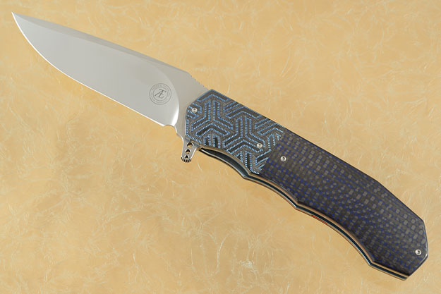 L44 Flipper with Blue/Black Carbon Fiber and Zirconium (IKBS)
