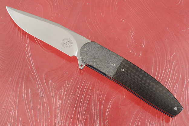 L28M Flipper with Carbon Fiber and Engraved Zirconium (Ceramic IKBS)