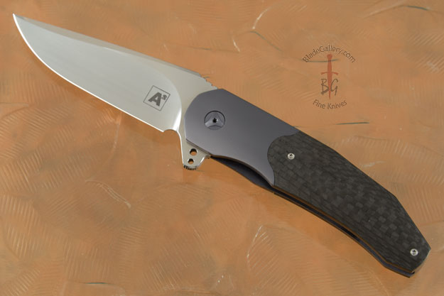 Frame Lock Flipper with Carbon Fiber and Zirconium (Double Row Ceramic IKBS)