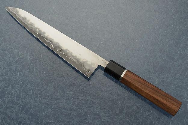San Mai Chef's Knife (Gyuto) with Traditional Macassar Ebony Handle (7-3/4