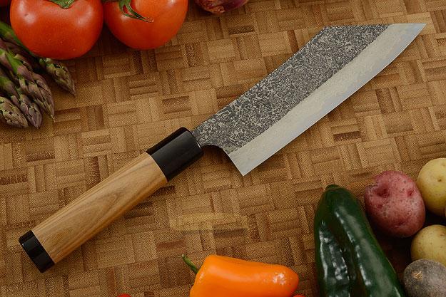 Damascus SLD Chef's Knife - Hakata Santoku - 7-1/8 in. (180mm)