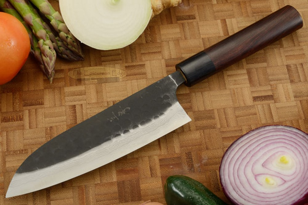 Asai Tojinbo Damascus Chef's Knife - Santoku - 6-3/4 in. (170mm)