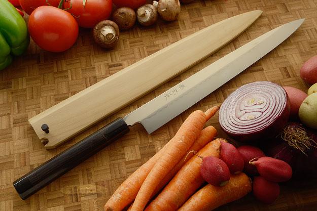 Mizu-Honyaki Slicing Knife - Yanagiba, 300mm (11-3/4 in) - Shirogami #3