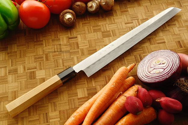 Mizu-Honyaki Slicing Knife - Yanagiba-Kiritsuke, 285mm (11-1/4 in)