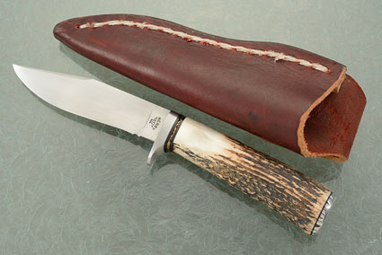 Clip Point Hunter with Stag