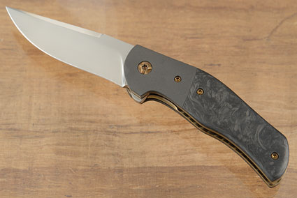 Roadhouse Flipper with Marbled Carbon Fiber and Zirconium