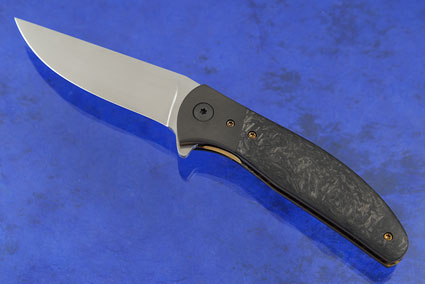 Bingalor Flipper with Marbled Carbon Fiber and Zirconium