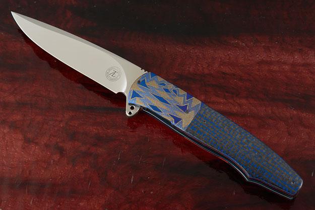 L20 Flipper with Blue/Black Lightning Strike Carbon Fiber (IKBS)