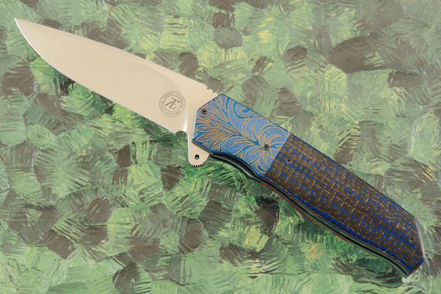 L36S Flipper with Blue Lightning Strike Carbon Fiber (IKBS)