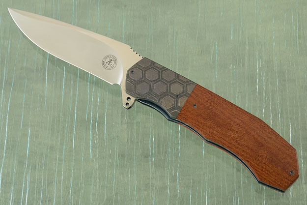 L44 Flipper with Brown Micarta and Zirconium (IKBS) - M390