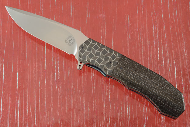 L44 Flipper with Silver Strike Carbon Fiber and Zirconium (IKBS)