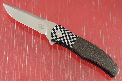 LL13 Flipper with Mother of Pearl and Lightning Strike Carbon Fiber (IKBS)