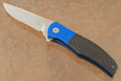 LL13 Flipper with Carbon Fiber and Blue G-10 (IKBS)