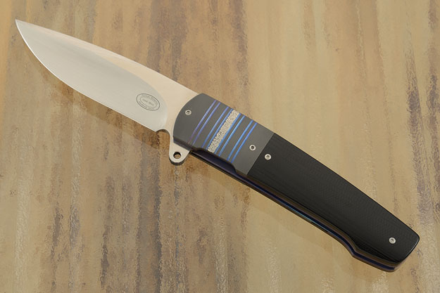 LL07 Flipper with Black G10 and Zirconium (IKBS)