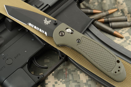 Pardue Griptilian Tanto, OD Green with Serrations (553SBKOD)