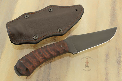 Crusher Belt Knife with Sculpted Maple and Caswell Finish