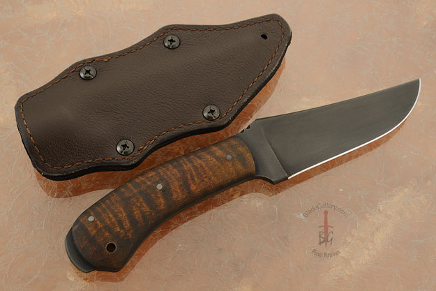Crusher Belt Knife with Maple and Caswell Finish