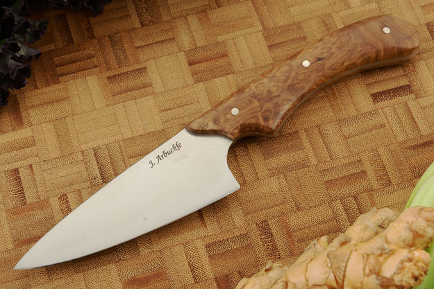Chef's Knife (4 in) with Mallee Burl
