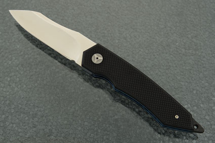 Tactical Front Flipper with Textured Black G10 and MoonGlow II (IKBS)