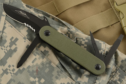 EDC-2 Multitool with OD Green G10