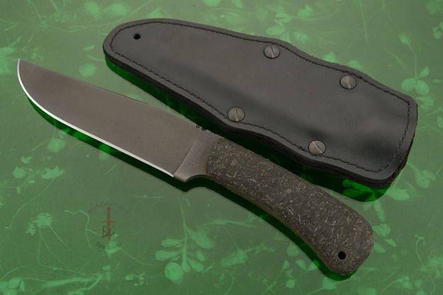 Field Knife with Rubber and Caswell Finish