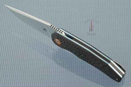 A5 Flipper with Carbon Fiber and Orange G10 (IKBS)