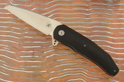 A3 Wharncliffe Flipper with Black and Orange G10 (Double Row Ceramic IKBS)