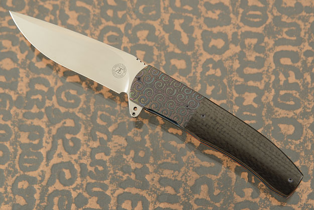 L45 Flipper with Carbon Fiber and Engraved Zirconium (IKBS)